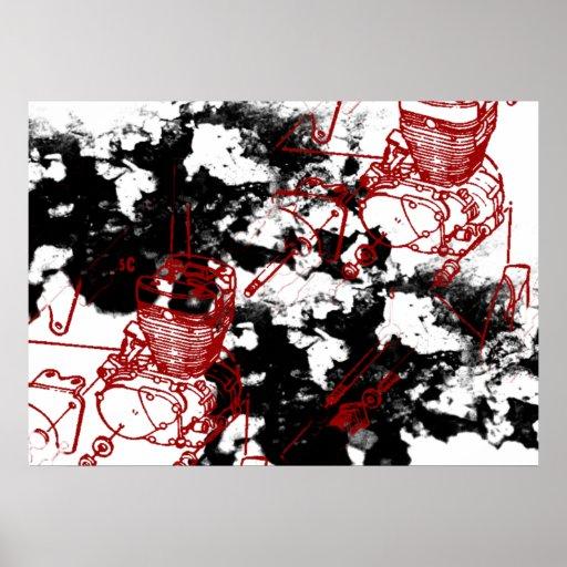 Grunge Pattern 195 Print