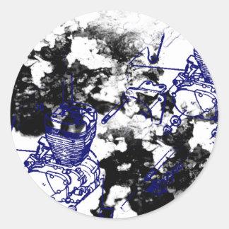 Grunge Pattern 198 Classic Round Sticker
