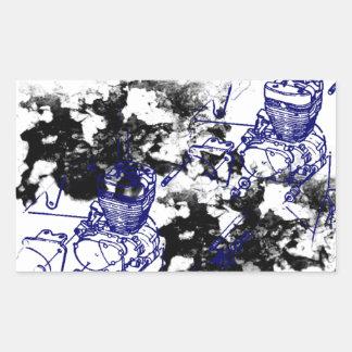 Grunge Pattern 198 Rectangular Sticker