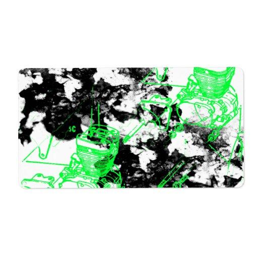 Grunge Pattern 216 Shipping Label