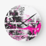Grunge Pattern 217 Round Wall Clock