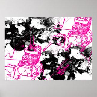 Grunge Pattern 219 Poster