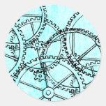 Grunge Pattern 221 Classic Round Sticker