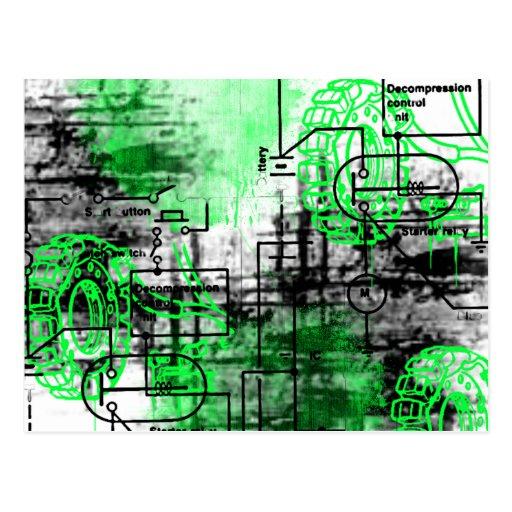 Grunge Pattern 31 Postcard