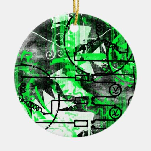 Grunge Pattern 32 Christmas Tree Ornaments