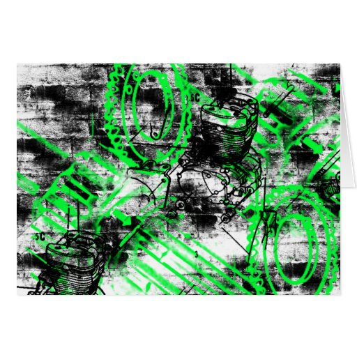 Grunge Pattern 33 Greeting Card