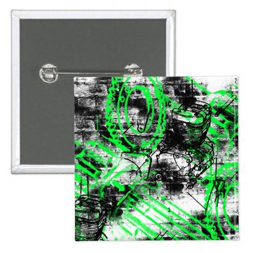Grunge Pattern 33 Pinback Button
