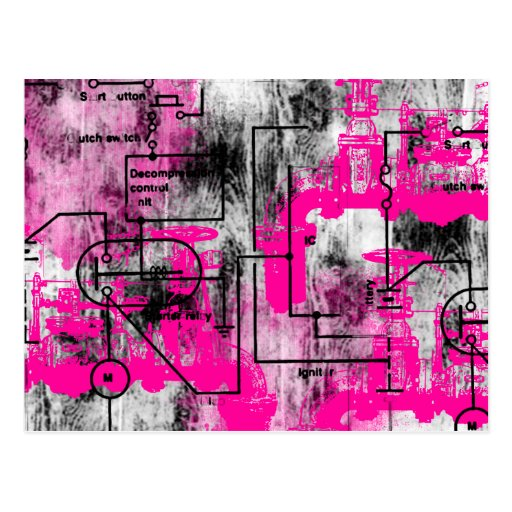Grunge Pattern 35 Postcard