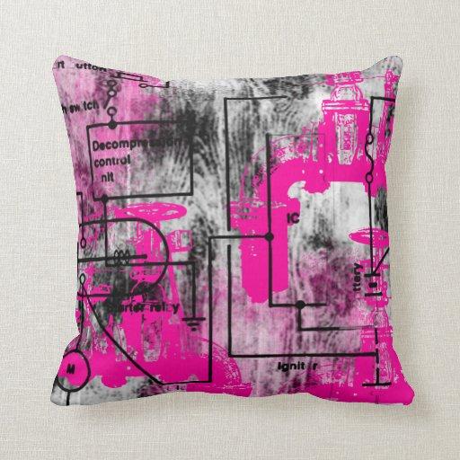 Grunge Pattern 35 Throw Pillows