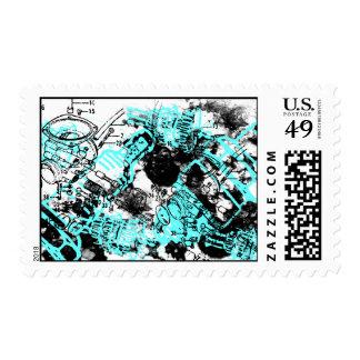 Grunge Pattern 37 Postage