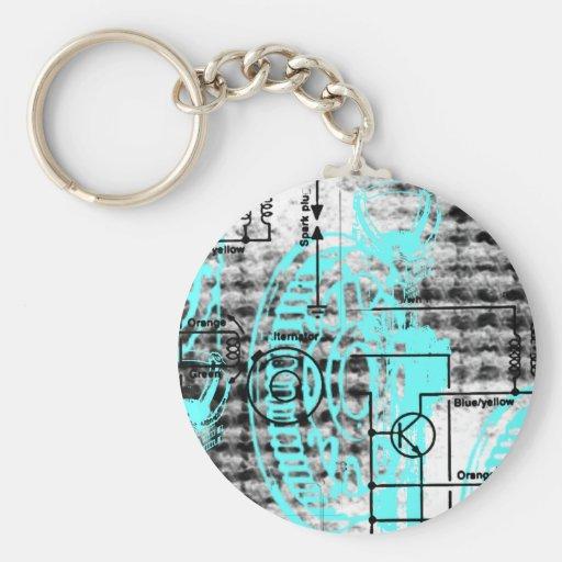 Grunge Pattern 38 Keychains