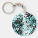 Grunge Pattern 39 Keychains