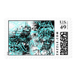 Grunge Pattern 39 Postage