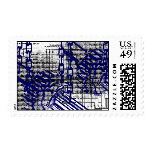 Grunge Pattern 46 Postage Stamps