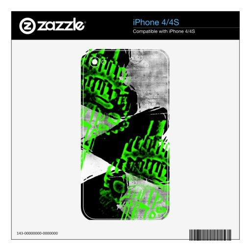 Grunge Pattern 64 iPhone 4 Decal
