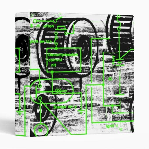 Grunge Pattern 65 Vinyl Binder