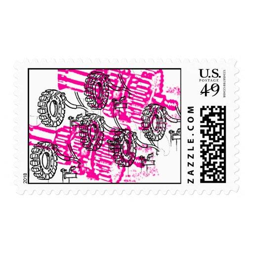 Grunge Pattern 69 Postage Stamp