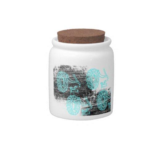 Grunge Pattern 72 Candy Jars
