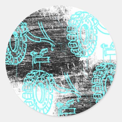 Grunge Pattern 72 Classic Round Sticker