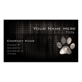 Grunge Paw Print Double-Sided Standard Business Cards (Pack Of 100)