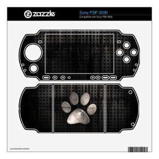 Grunge Paw Print Decals For The PSP 3000