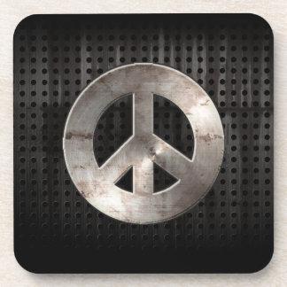 Grunge Peace Sign Drink Coaster