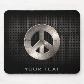 Grunge Peace Sign Mouse Pad