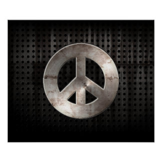 Grunge Peace Sign Poster