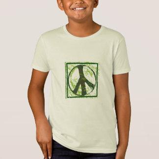 Grunge Peace Symbol Kids Organic T-Shirt