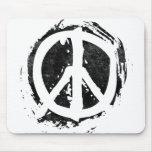 Grunge Peace Symbol Mouse Mat