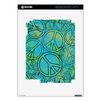 GRUNGE PEACES iPad Skin