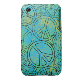 GRUNGE PEACES iPhone 3 Case-Mate Case