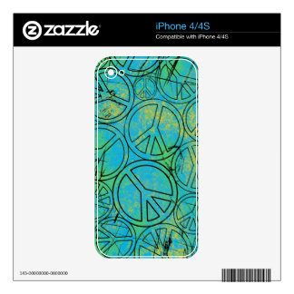 GRUNGE PEACES iPhone Skin Decals For iPhone 4