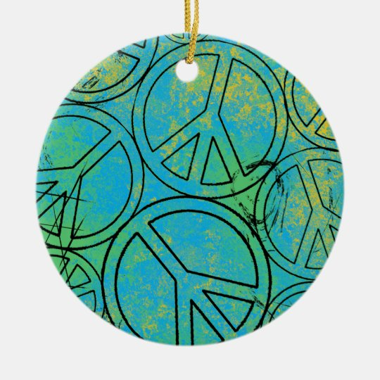 GRUNGE PEACES Ornament