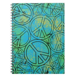 GRUNGE PEACES Spiral Notebook