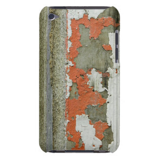 Grunge peeling orange paint on concrete wall barely there iPod cover