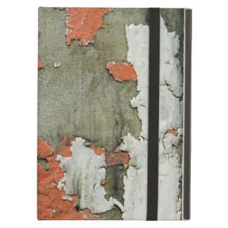 Grunge peeling orange paint on concrete wall cover for iPad air