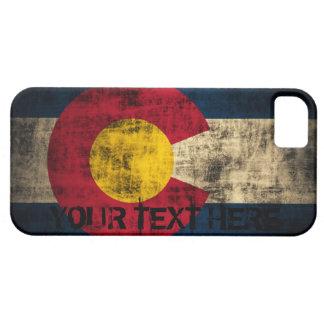 Grunge personalizado del vintage de la bandera de iPhone 5 Case-Mate protector