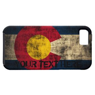 Grunge personalizado del vintage de la bandera de iPhone 5 carcasa