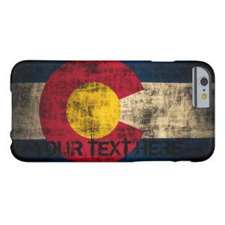 Grunge personalizado del vintage de la bandera de funda de iPhone 6 barely there