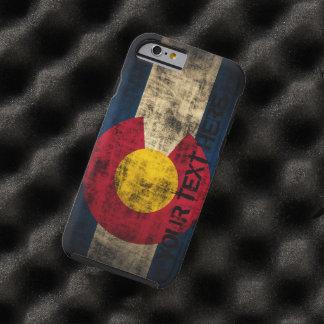 Grunge personalizado del vintage de la bandera de funda de iPhone 6 tough