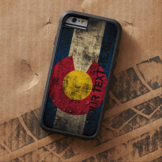 Grunge personalizado del vintage de la bandera de funda de iPhone 6 tough xtreme
