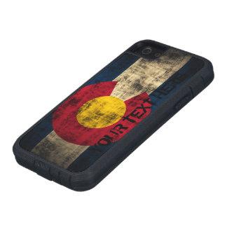 Grunge personalizado del vintage de la bandera de iPhone 5 carcasas