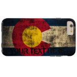 Grunge personalizado del vintage de la bandera de funda de iPhone 6 plus tough