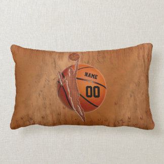 Grunge Personalized Basketball Pillow for Guys