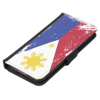 Grunge Philippines Flag Wallet Phone Case For Samsung Galaxy S5