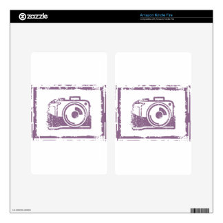 Grunge Photo Camera Stamp Skin For Kindle Fire