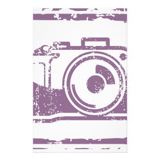 Grunge Photo Camera Stamp Stationery