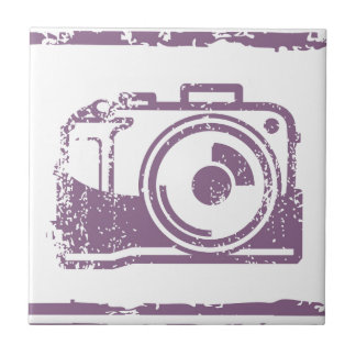 Grunge Photo Camera Stamp Tile