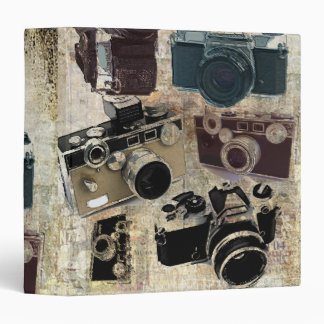 Grunge photographer photography Vintage Camera 3 Ring Binder